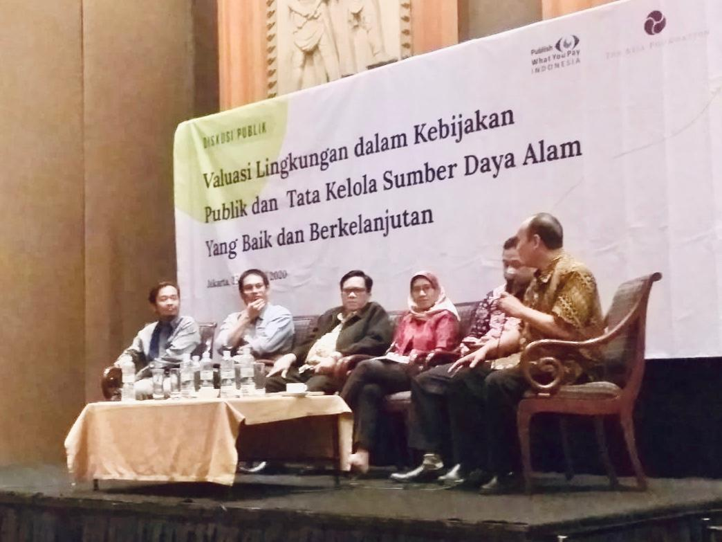 Diskusi Publik Publish What You Pay (PWYP) bekerjasama dengan  The Asia Foundation (TAF) (23/1/2020)