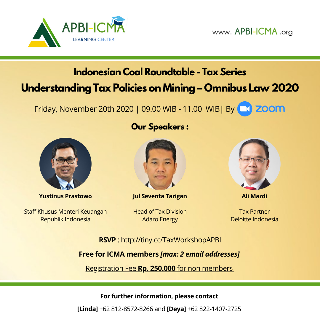 Indonesian Coal Roundtable - Tax Series