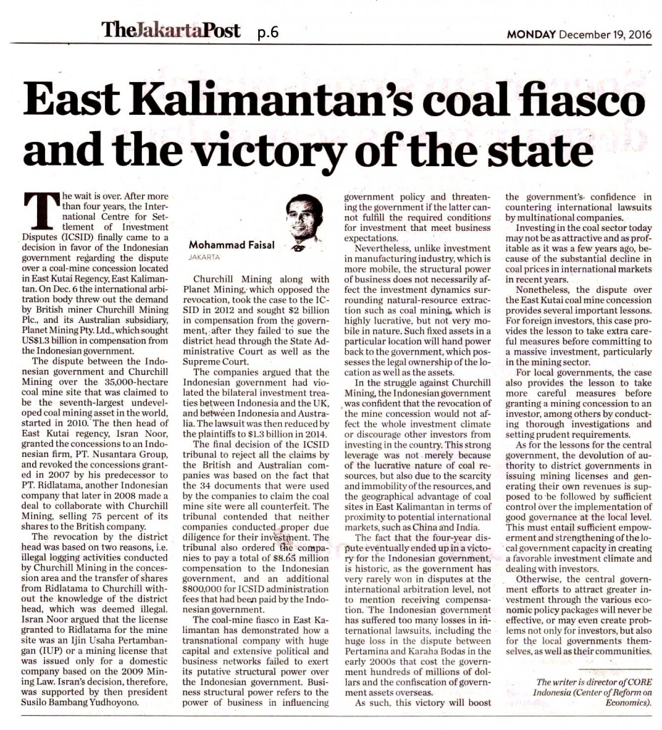 East Kalimatan's coal fiasco and the victory of the state