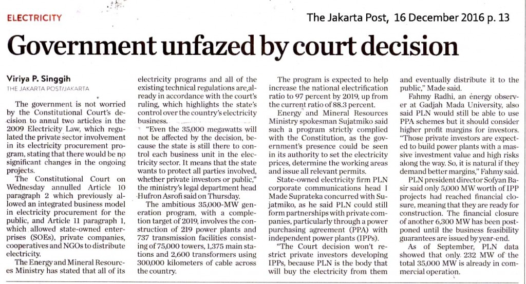 Government unfazed by court decision