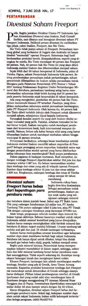 Divestasi Saham Freeport copy